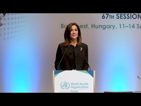 Her Royal Highness The Crown Princess of Denmark addresses the Regional Committee 67th session