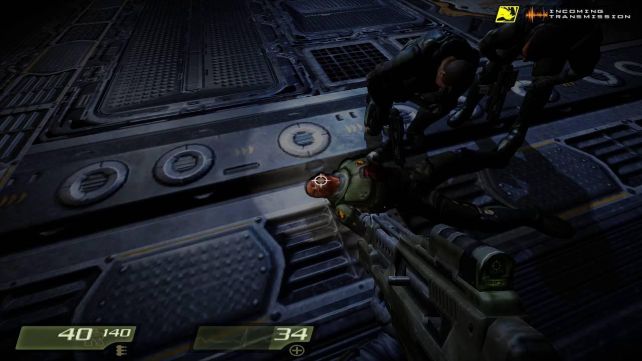 Quake 4 - 11 Nexus Hub Tunnels - 1080p 60fps Uncommented