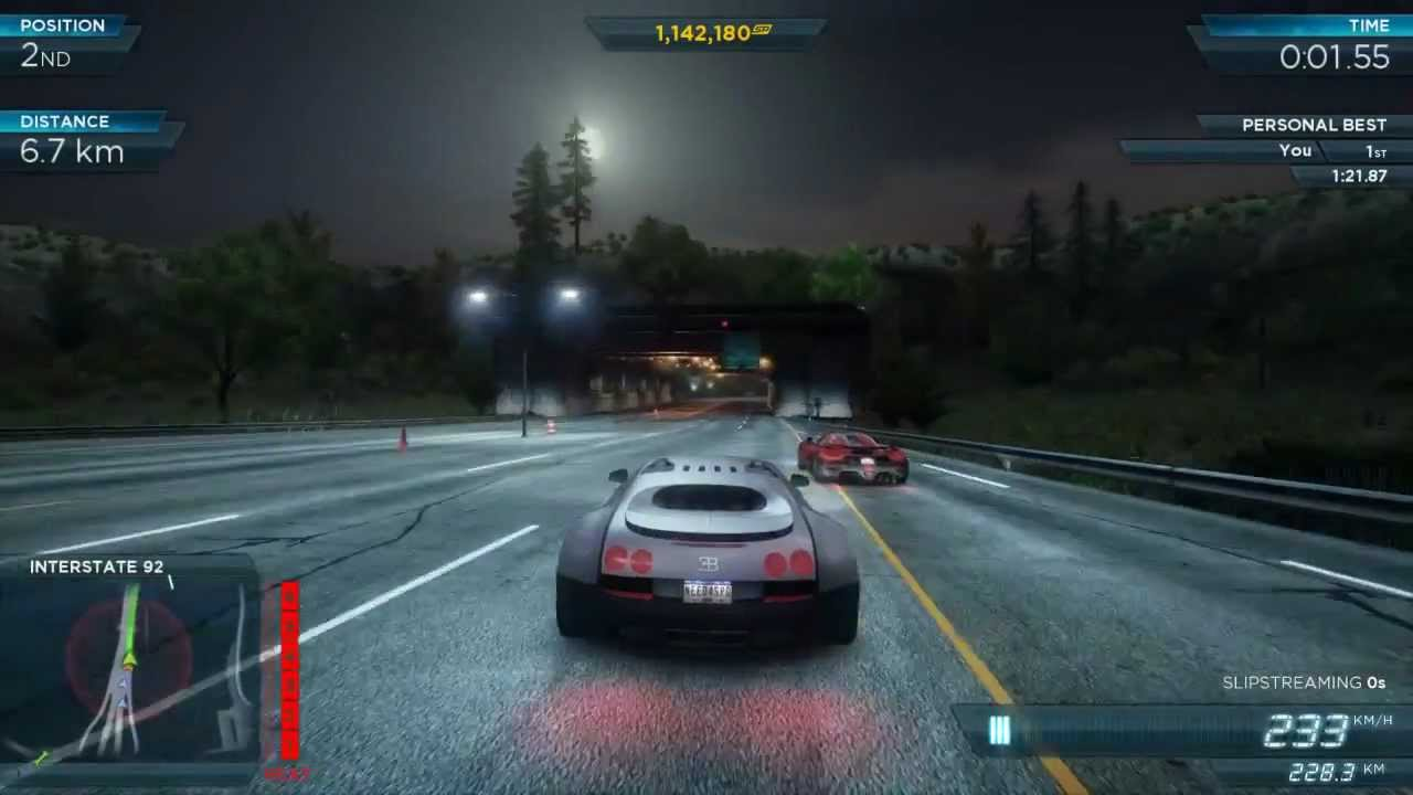 Need For Speed Most Wanted 2012   Top Speed Bugatti Veyron Super Sport    YouTube