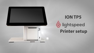 Instructions for setting up lightspeed pos on a pos-x ion tp5 and pro.