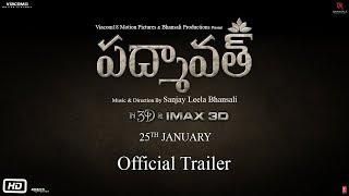 Padmaavat Telugu | Official Trailer | Ranveer Singh | Deepika Padukone | Shahid Kapoor