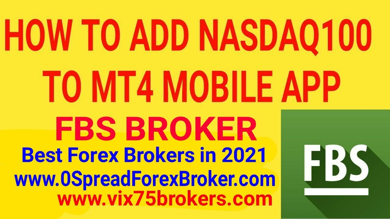 How To Add Nasdaq100 To MT4 FBS Broker - YouTube