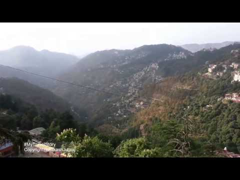 Beautiful Shimla Mall Road  View Entire City Of  Mountains And Greenery.