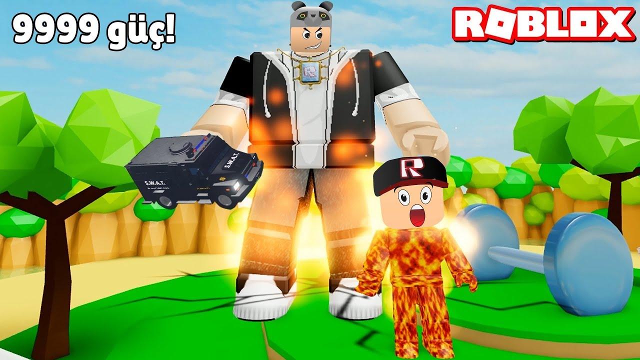 Herkesi Ateşe Dönüştürüp Gücümü Gösterdim! - Panda ile Roblox Lifting Simulator