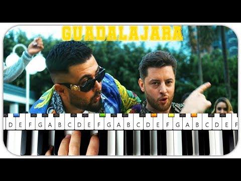 BAUSA feat. SUMMER CEM - GUADALAJARA Instrumental Beat + Piano Tutorial MIDI