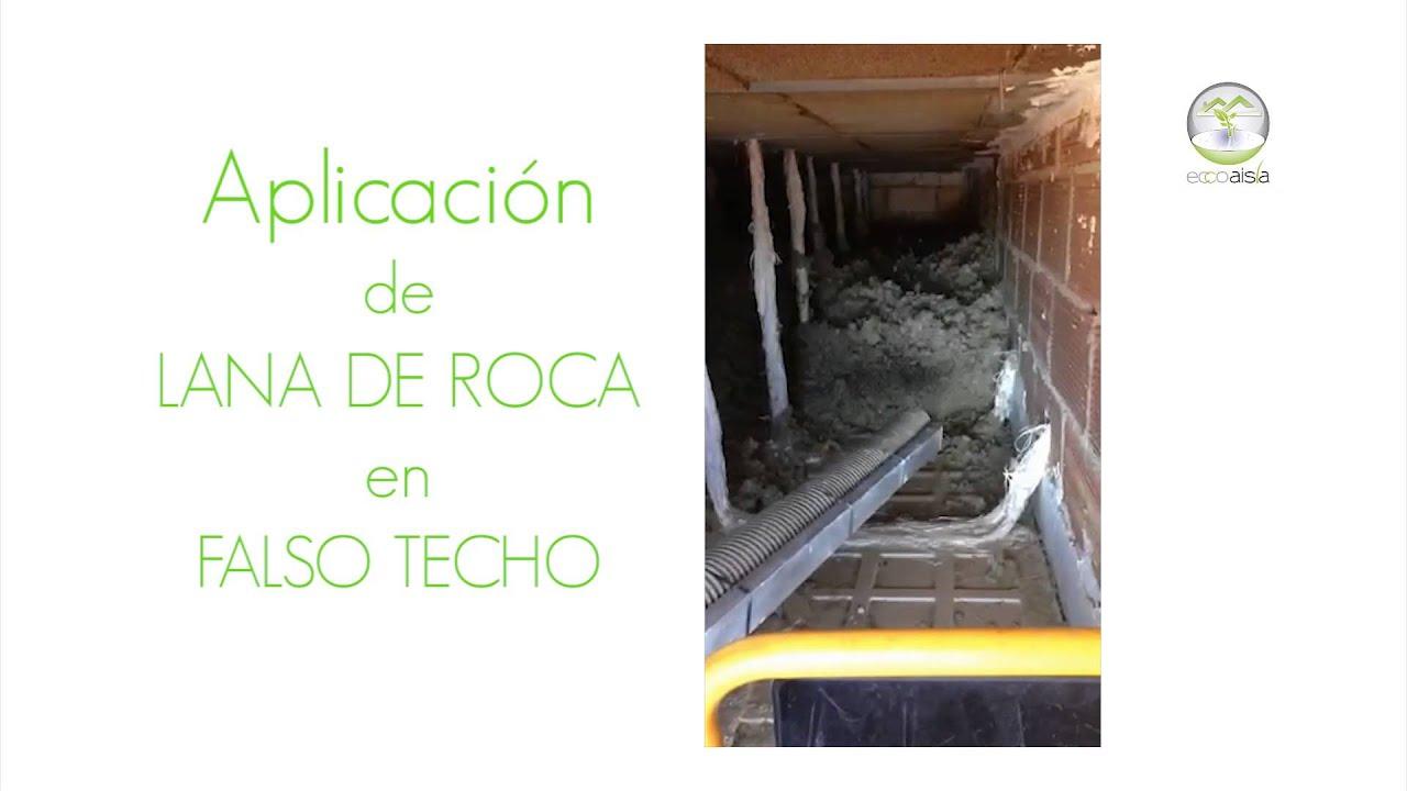 Eccoaisla aislamiento con lana de roca en falso techo for Aislamiento lana de roca