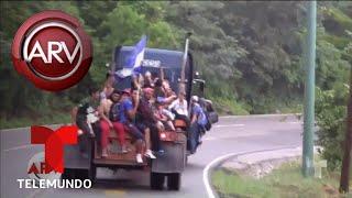 caravana de migrantes avanza por guatemala   al rojo vivo   telemundo