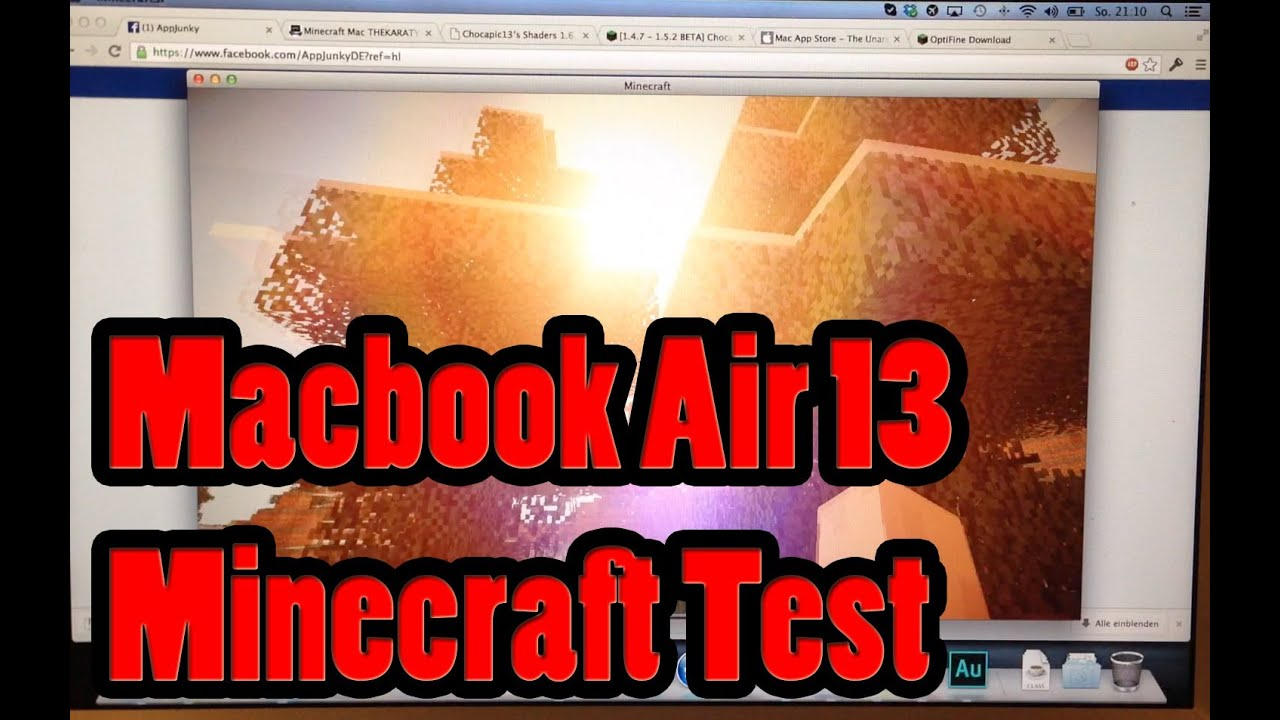 how to play minecraft on macbook air