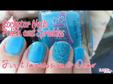 First Impressions & Demo: Rockstar Nails Polish & Sprinkles
