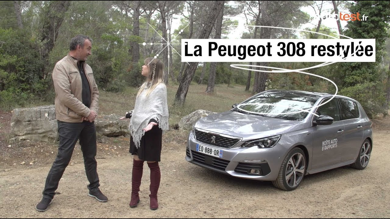 essai de la nouvelle peugeot 308 restyl e 2018 finition gt youtube. Black Bedroom Furniture Sets. Home Design Ideas