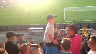Young Boy Leads other Fans into Football Chant - Eindhoven we love you thumbnail