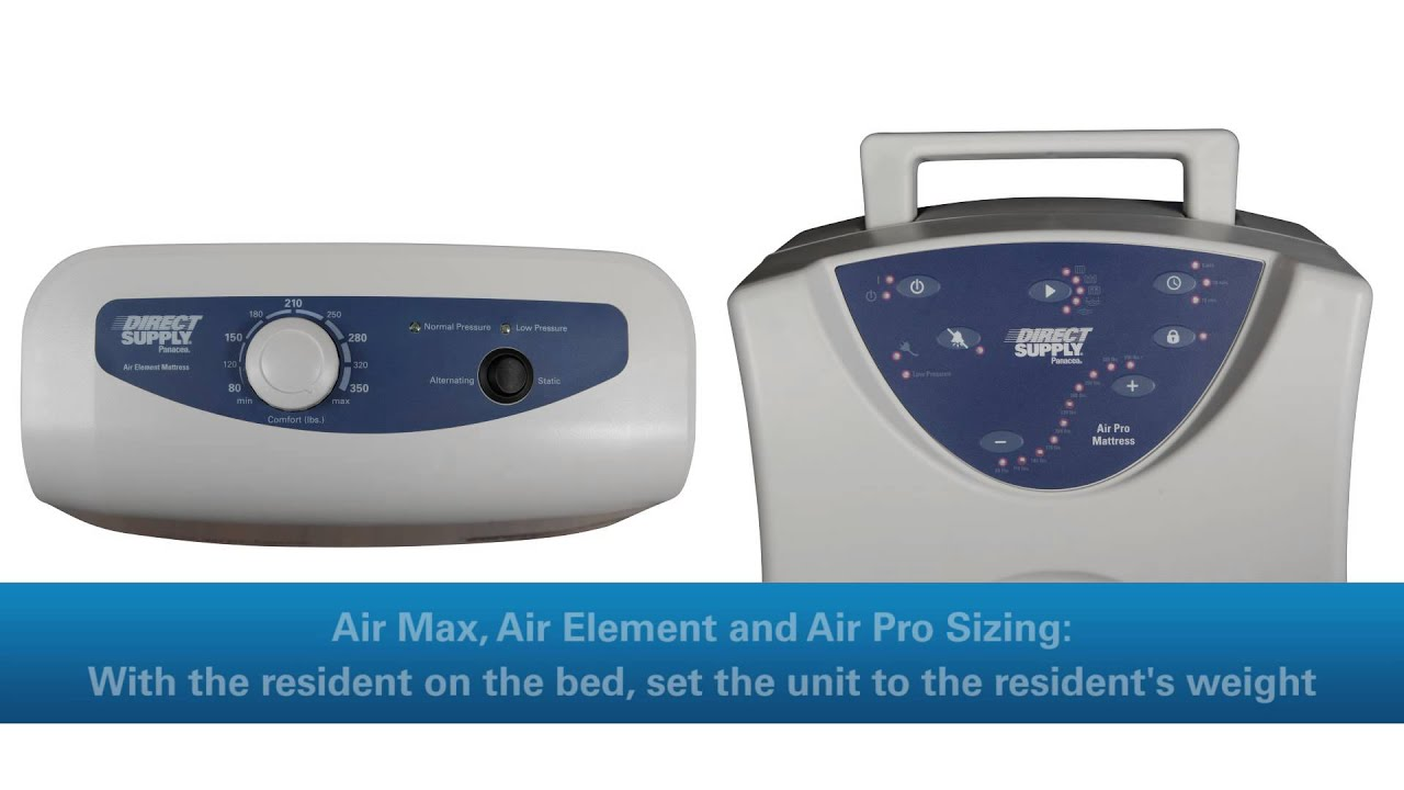 Direct Supply Panacea Air Mattress Setup Sizing and Maintenance