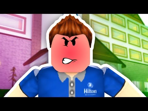 ADMIN KICKS US OUT IN ROBLOX HILTON HOTEL
