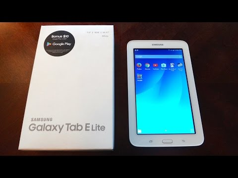 Samsung Galaxy Tab E Lite 8GB White (Unboxing and Overview)