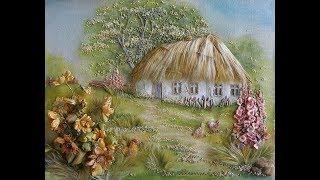 Необыкновенные картины Анжелы Юклянчук. Картины из лент.