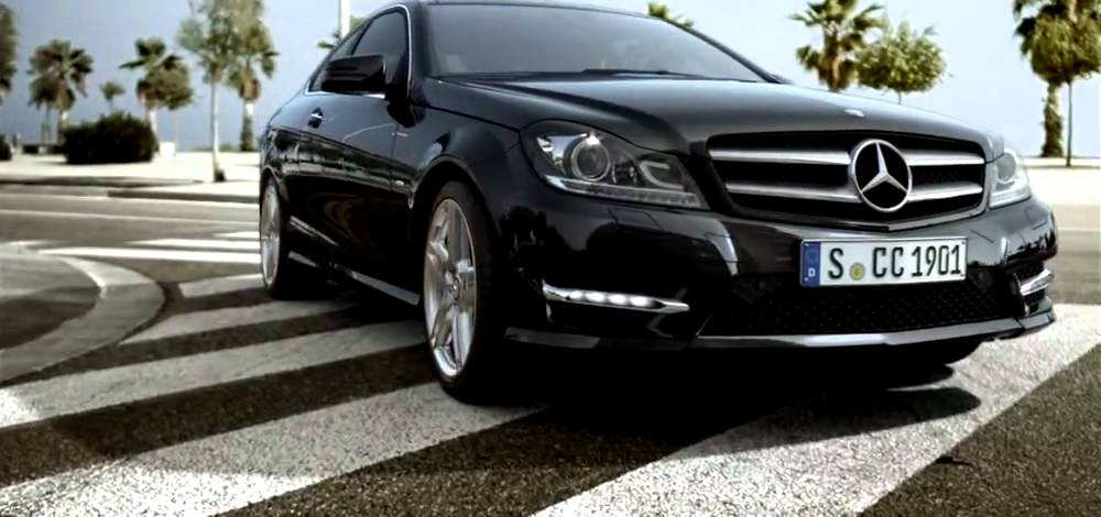 2012 mercedes benz c class coupe in black with amg sport package youtube. Black Bedroom Furniture Sets. Home Design Ideas