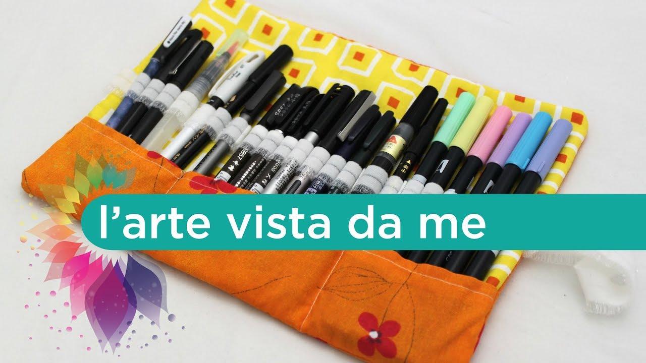 Cucito creativo tutorial astuccio che si arrotola fai da for Fai da te creativo