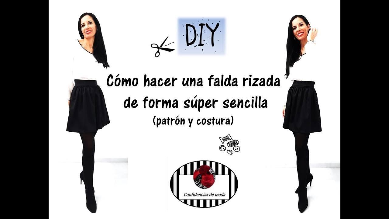 Cómo hacer una falda rizada sin patrón. DIY costura.