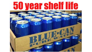 50 year shelf life emergency canned water by Blue Can Water