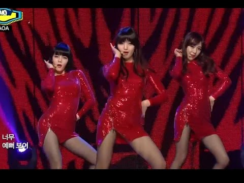 【TVPP】AOA - Miniskirt (Red Onepiece ver.), 에이오에이 - 짧은 치마 @ Show! Champion