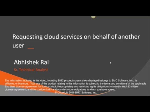 CLM: Requesting Cloud Services on Behalf of Others Using Admin Console and  End User Portal