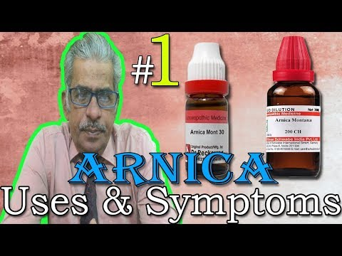 Arnica in Hindi (Part 1) - Uses & Symptoms in Homeopathy by Dr P. S. Tiwari