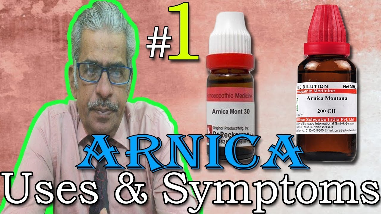 Arnica in Hindi (Part 1) - Uses & Symptoms in Homeopathy by Dr P  S  Tiwari