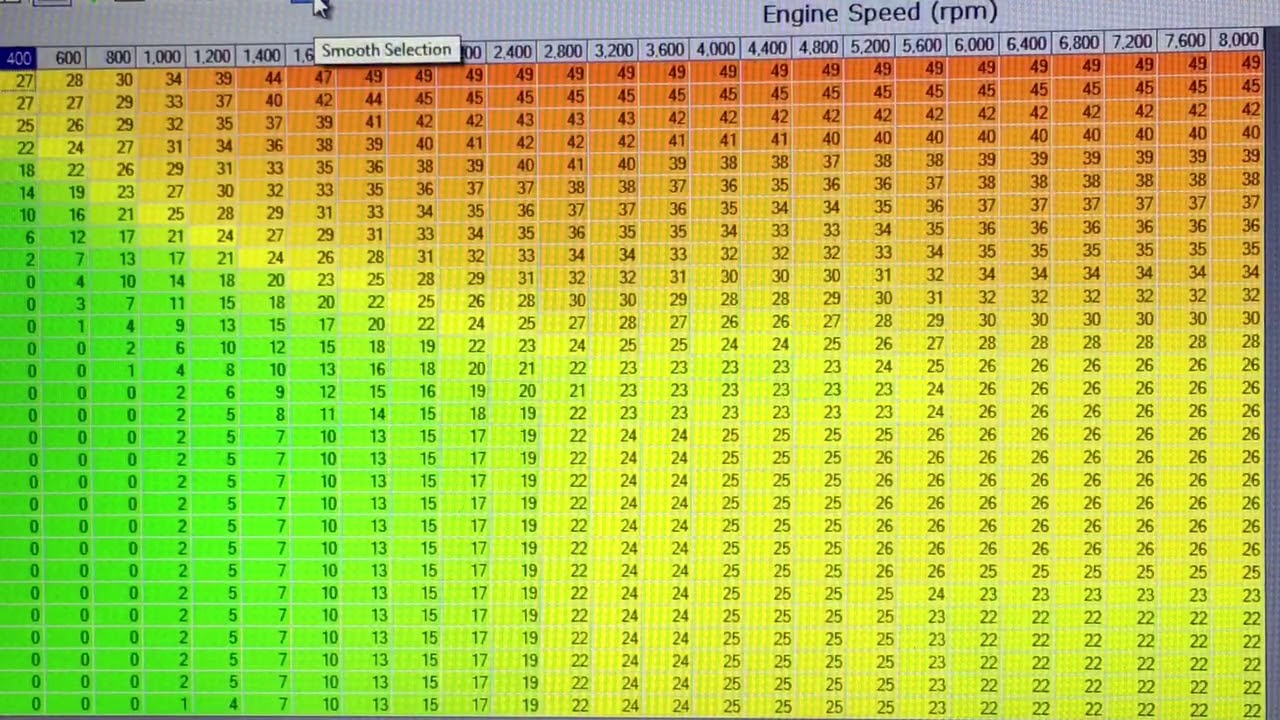 HP Tuner Pro 4 8 timing table Test