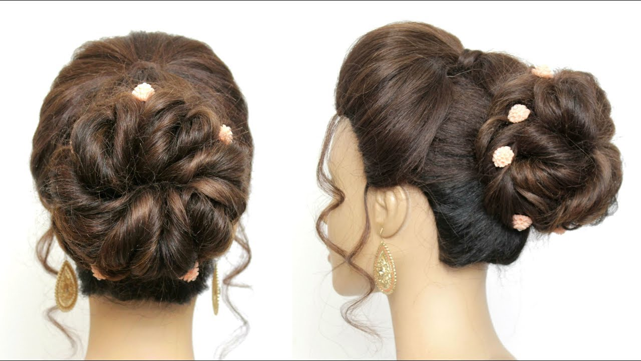 Simple Bridal Prom Updo Tutorial For