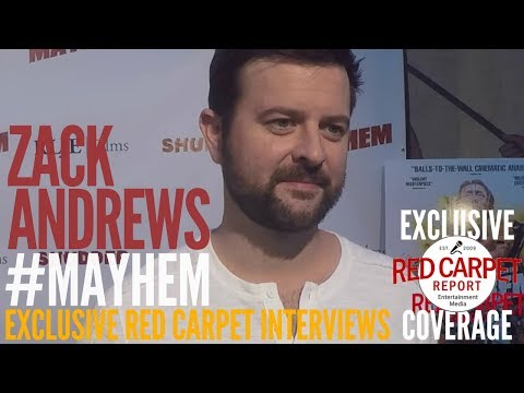 Zack Andrews ed at the Mayhem Premiere at BeyondFest