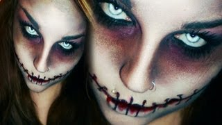 Last minute! EASY HORROR / ZOMBIE HALLOWEEN / KARNEVAL MAKE-UP CHELSEA SMILE ZUGENÄHT