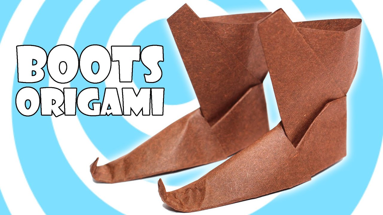 DIY Traditional Origami Boots Tutorial