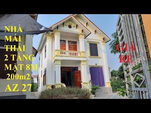 Mẫu nhà vuông mái thái 2 tầng diện tích 200 m2 giá rẻ ở nông thôn nhưng rất hợp lý nhà đẹp AZ27