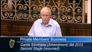 Seamus Healy TD ~ Garda Síochána Amendment Bill 2013