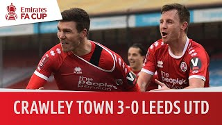 Crawley Town vs Leeds United (3-0) | Emirates FA Cup Highlights