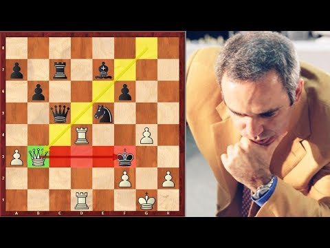 "Garry Kasparov's Greatest Double Bishop ""Sacrifice"" And Final King Hunt"