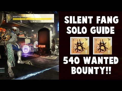 Destiny 2 Forsaken - Silent Fang Wanted Bounty - SOLO GUIDE!!!