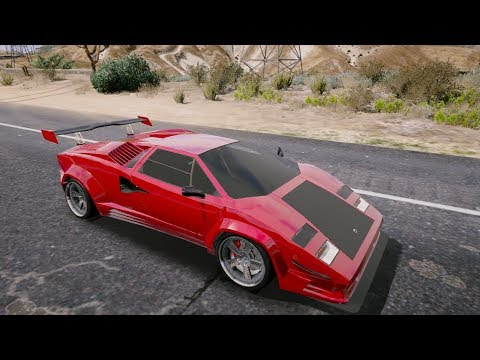 Gta 5 Lamborghini Countach Qv Mods Gta V Mod 284 Youtube