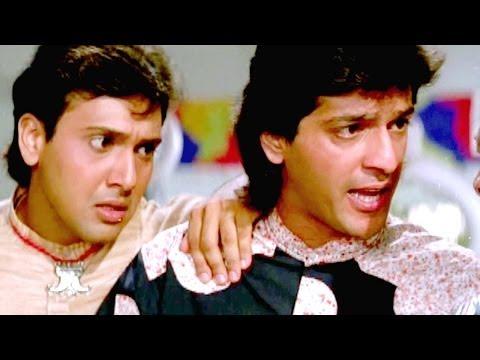 Govinda, Chunky Pandey, Kadar Khan, Aankhen - Comedy Scene 6/13