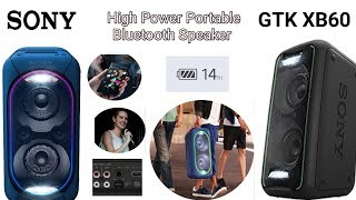 Sony gtk xb60 High Power Portable Bluetooth Speaker, new audio system
