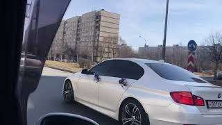 Свадебный кортеж Jaguar XJ long & BMW F10 в Питере