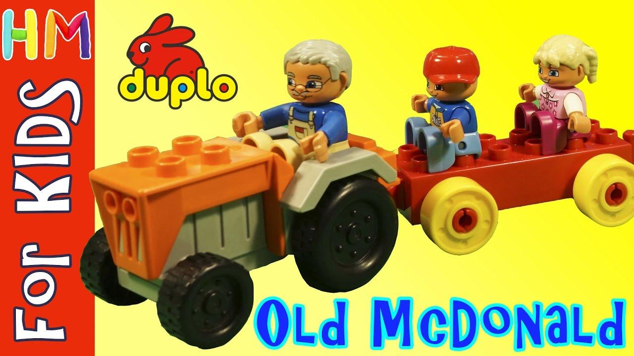 Lego Duplo Old Macdonald Had A Farm Lego Animation Song Toy Kids