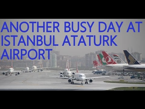 Plane Spotting -Another Busy Day at Istanbul Ataturk Airport 09.04.2016