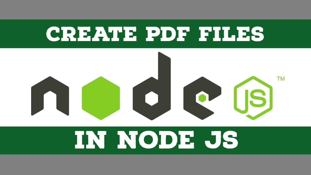 Create a PDF Document in Node JS