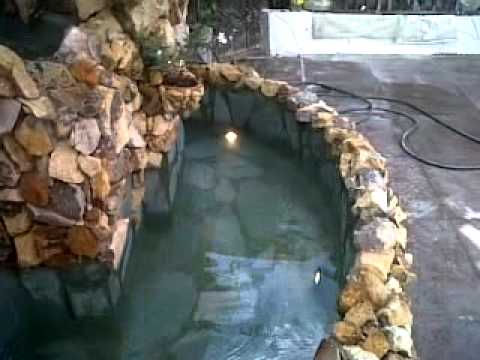 Fuente de pared en piedra youtube - Fuente de pared ...