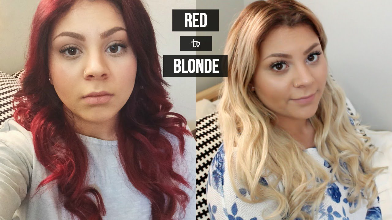 How To Red Hair To Blonde How I Removed My Stubborn Red Color