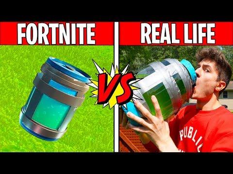 FORTNITE CHUG JUG IN REAL LIFE! Fortnite vs Real Life