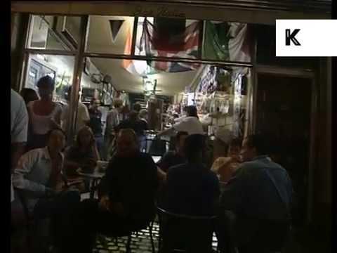 1994 Interior Bar Italia and Soho at Night, 1990s London