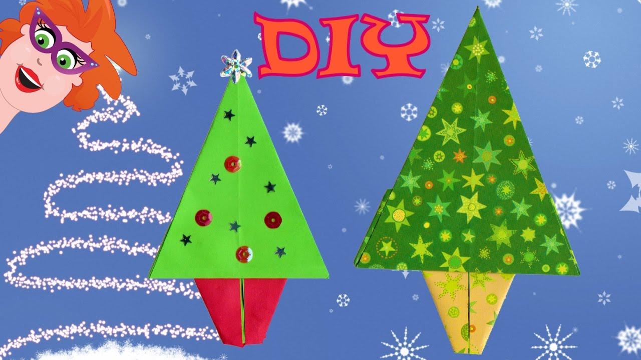 Diy Origami Kerstboom Vouwen Makkelijk Knutselen Met Papier