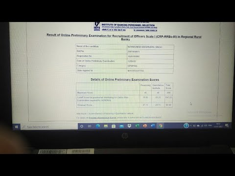 My IBPS RRB Po scorecard,why my score was less as compared to previous year... watch the full video